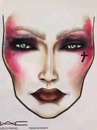 viva glam riha 2 inspired facechart by mua ellen sijm mac cosmetics