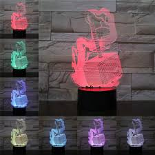 Thor Hammer Led Light Us 4 53 25 Off Thor Hammer 3d Lamp Night Light Led Bulb Multi Color Flash Fade Holiday Props Christmas Birth Gift For Children Girl Home Deocr In