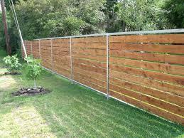low horizontal wood fence. We Horizontal Low Wood Fence