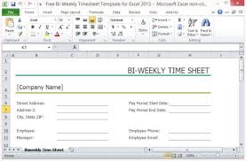 free weekly timesheet free bi weekly timesheet template for excel 2013