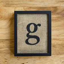 letter g burlap wall decor alphabet art monogram by laxtoyvr
