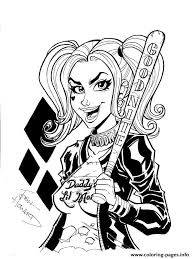 print good night harley quinn coloring pages