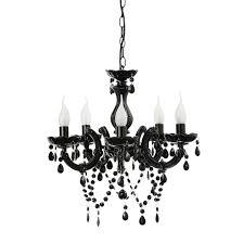 black chandelier lighting photo 5. Etienne 5 Light Chandelier Black Lighting Photo E