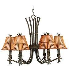 kwai 6 light bronze heritage chandelier
