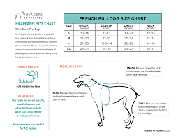 French Bulldog Size Guide Voyagers K9 Apparel