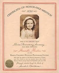 Honorable Mention Certificate Amazon Com Certificate Of Honorable Mention 1939 Eighth