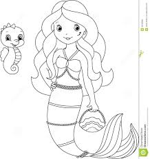 Small Picture Mermaid Coloring Page For Free Pages Of Mermaids And glumme