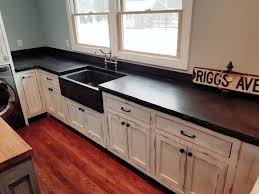 concrete farmhouse sink. Charcoal Concrete Counter With Matching Farmhouse Sink. Handcrafted By Northeast Furniture Studio. Sink
