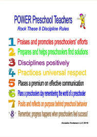 Discipline With Purpose Chart Preschool Power Teacher Discipline Rules Chart By Cynthia Howard