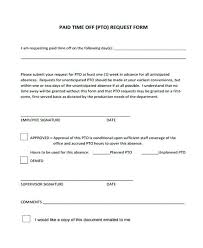Personal Time Off Request Form Letter Request Form Sample Time Off Download Free Salary Loan Forms