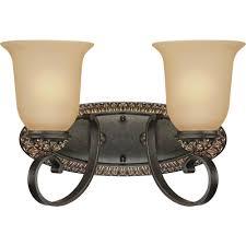volume lighting bristol 2 light vintage bronze and antique gold bathroom vanity light v2292 82 the home depot