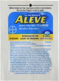 Aleve Individual Sealed 1 Caplet In A Packet Box Of 48 Packets