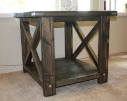 Rustic End Table Design