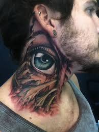 76 Excellent Eye Tattoos On Neck