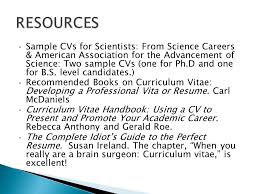 The Curriculum Vitae Handbook Gorgeous To Present Yourself For Academic Positions A CV Shows Your Academic