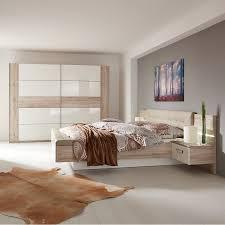 4 Teiliges Schlafzimmer Set Ravello Sandeiche Weiß Online Bei