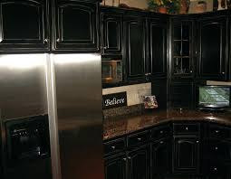 painted black kitchen cabinets before and after. Dark Painted Cabinets Distressed Black Kitchen Inspiration And  Design Painting Wood White Before . After U