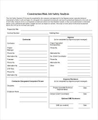 job safety analysis template 10 job safety analysis free sample example format free