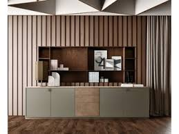 wooden office storage. Contemporary Style Low Lacquered Wooden Office Storage Unit With Hinged Doors BOLD  