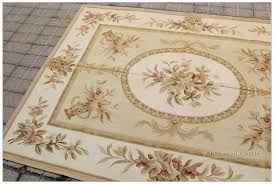 luxury bronze gold aubusson rug pastel