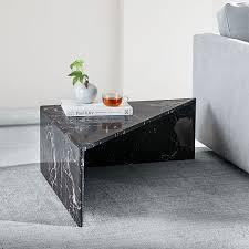 nesting marble side tables black
