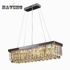 luxury modern luxury re rectangular crystal chandelier for dining room for rectangular dining chandelier