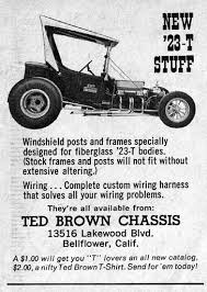 ted brown t bucket chassis designer extraordinaire tbucketplans com ted brown chassis t bucket ad