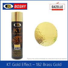 Bosny Spray Paint Color Chart Philippines Bosny Kt Gold Effect Spray Paint 182 Brass Gold