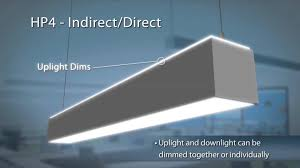 the hp4 indirect direct led linear suspended office lighting fixture you