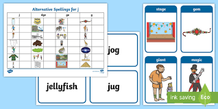 Phonics is a method of teaching kids to learn to read by helping them to match the sounds of letters, and groups of letters, to distinguish words. Free Alternative Spellings For J Table Worksheet Alternative Spellings