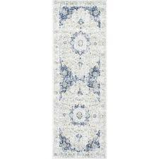 verona blue 3 ft x 8 ft runner rug