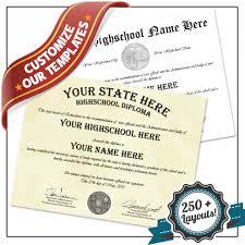 High School Deploma Fake High School Diploma Template Buyafakediploma Com