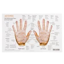 Hand Reflexology Chart Left Hand