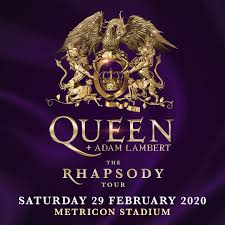 Queen Adam Lambert The Rhapsody Tour 2020 Metricon Stadium