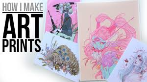 how i make art prints from home supplies tools etc