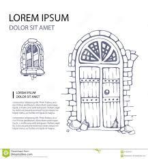 Drawn door hand drawn - Pencil and in color drawn door hand drawn