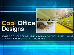 Cool Office Designs Beauteous Some Creative And Cool Office Designs