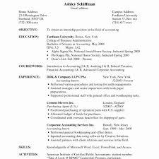 Sample Accounting Resumes New Resume Clerk Accountant Of 10