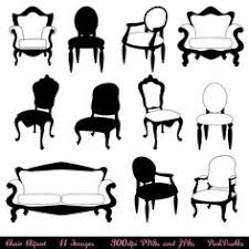 furniture clipart black and white. chair clip art clipart, silhouettes, furniture decor clipart black and white l