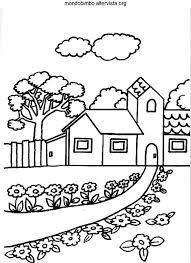 Casa Variopinta Di Disegno Piatto Con Giardino Vettoriale Elegante