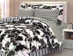 black and white camo bedding