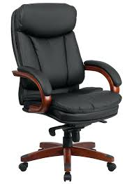 full image for brown leather and wood desk chair btod high back leather office chair gany