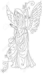 Angel Sketch Praying Angel Sketch