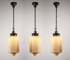 sold three matching spectacular antique gothic revival pendant lights