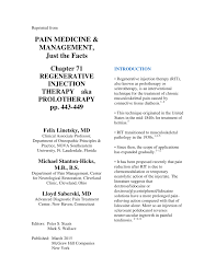 Pdf Chapter 71 Regenerative Injection Therapy Aka