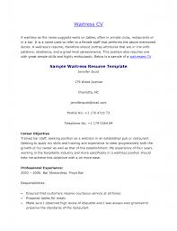 Cover Letter How To Write A Resume For Server Position How To Make .