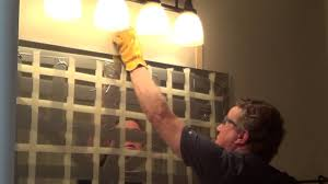 Adhesive Bathroom Mirror How To Remove A Glued Bathroom Mirror From The Wall Youtube
