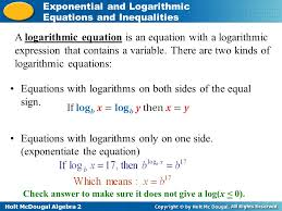 2 equations with logarithms on both sides