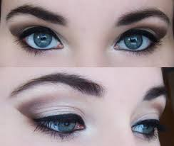 brown prom makeup for eyes
