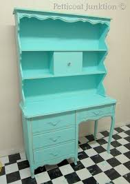 turquoise painted furniture ideas. Turquoise-painted-furniture-desk-before-after Turquoise Painted Furniture Ideas